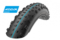 "Велопокрышка для фэтбайка Schwalbe Jumbo Jim EVOLUTION LINE 26"" x 4.4, артикул 11600815.01, 127 EPI, 1230 грамм, фолдинговая, компаунд Addix Speed grip, SnakeSkin, бескамерная технология TL Easy, цвет чёрный, ETRTO 110-559, давление 0.4 - 2.0 Bar"
